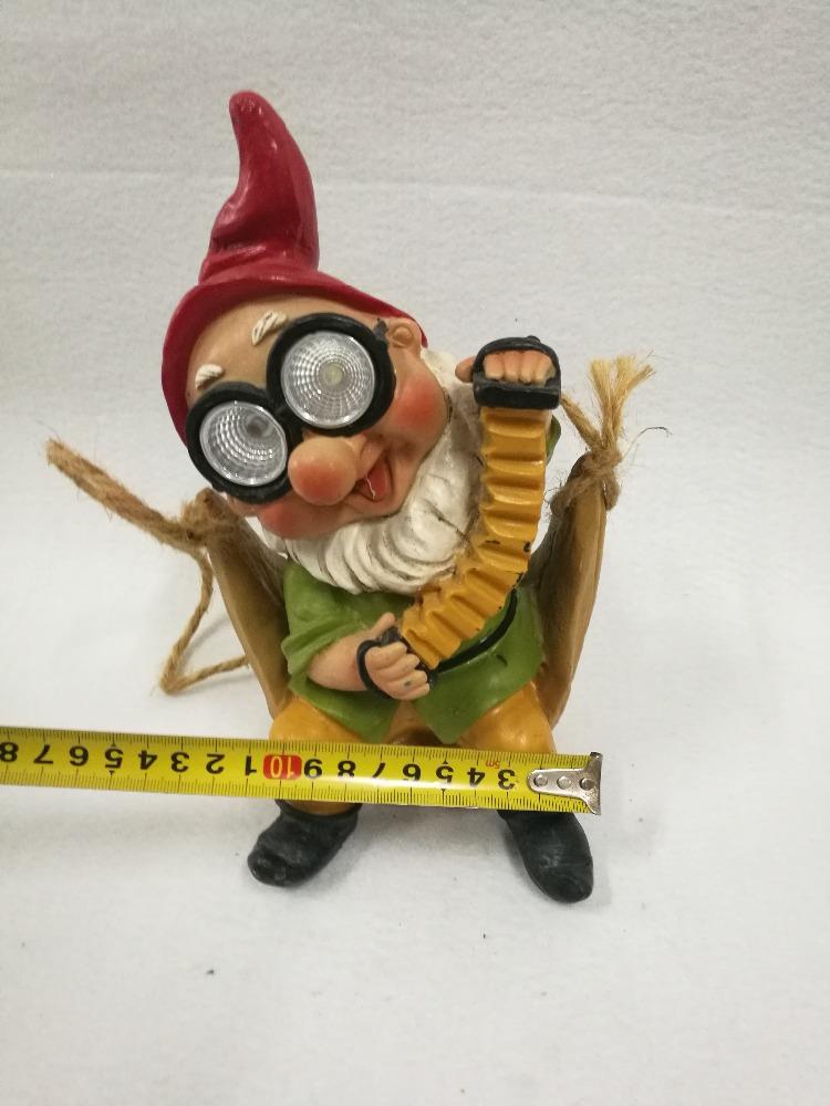 custom cheapest ceramic garden gnome figurine with light