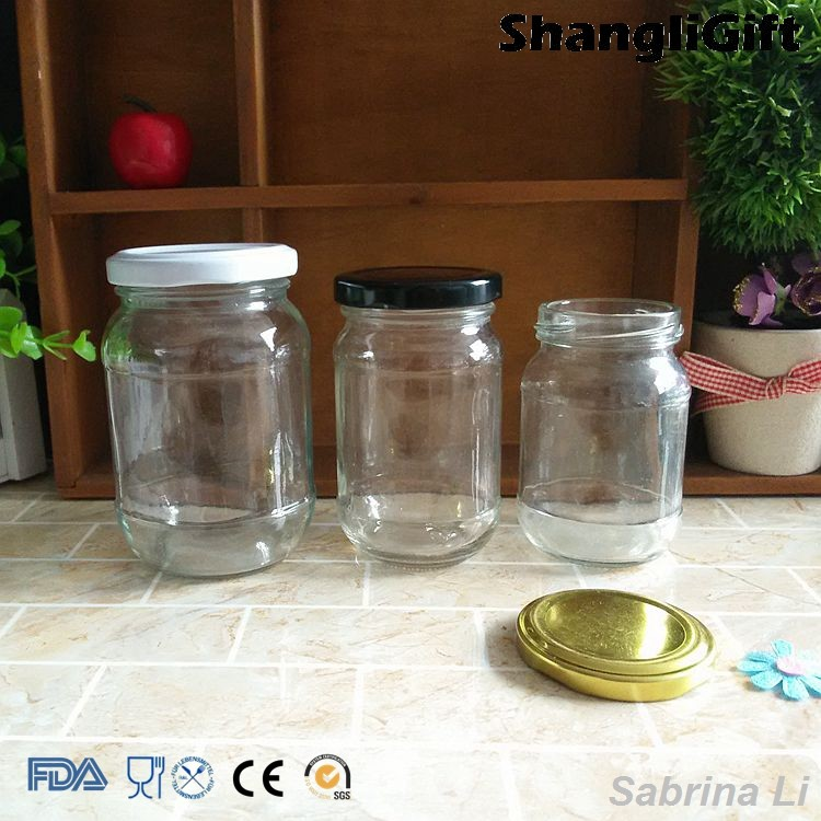round 4oz 6oz 10oz glass honey jar with vacuum lid