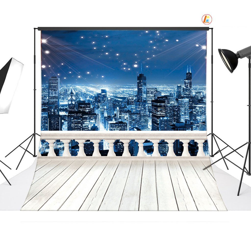 8x8ft Night Scene Pictorial cloth Customized Backdrop CP Photography Prop Photo Background YJ03