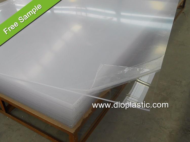 High Gloss Heat Resistant 3mm Iridescent Clear Cast Acrylic ...