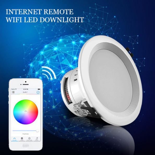 delicate style 90 degrees rotatable Triac WIFI dimmable 10w led gimbal <strong>downlight</strong>