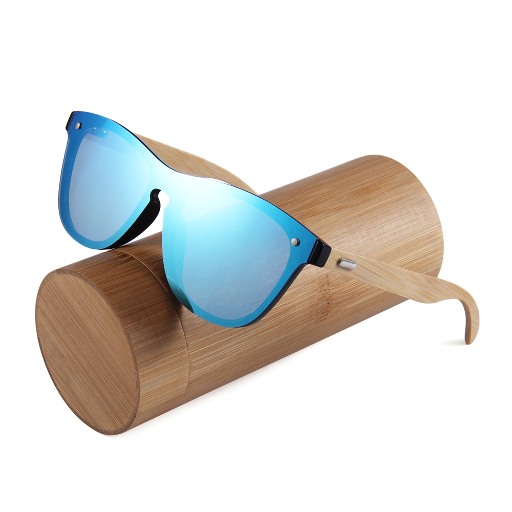 2018 womens eco friendly flat lens colorful bamboo oculos de sol masculino, Custom colors