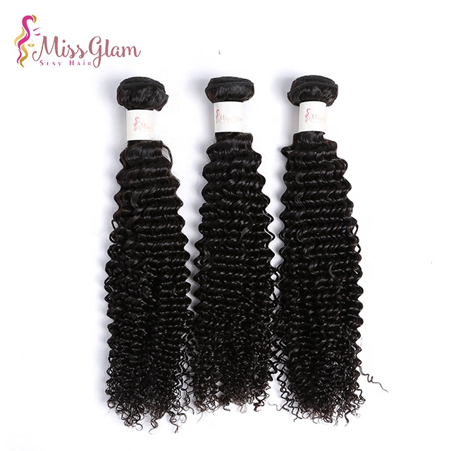 100% natural indian raw virgin human hair weave ,kinky curly remy hair extensions for black women, Natural black