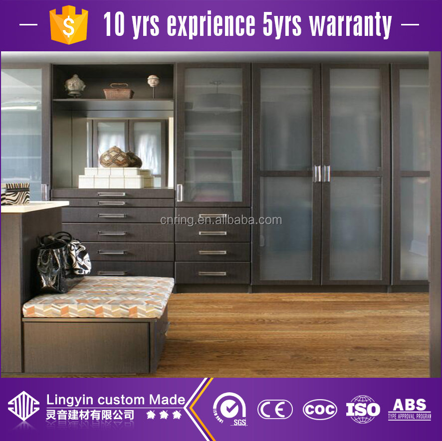 Ready To Made Modern Wooden Almirah Designs With Glass Door Buy