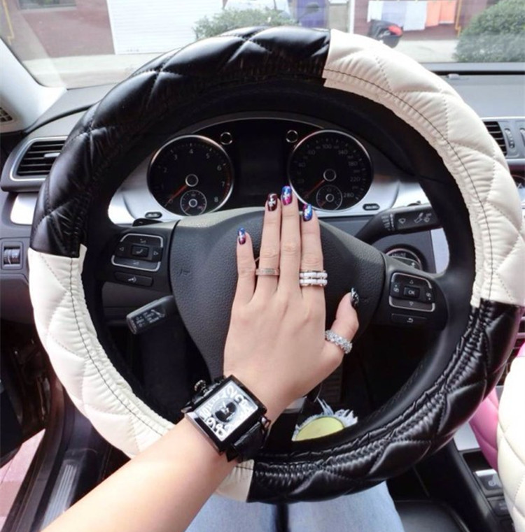 Free Shipping Fashion Girls Car Leather Steering Wheel