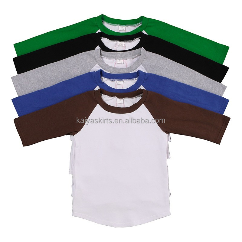 hot sale china factory baby clothes manufacturer plain t shirt boys clothing children wear