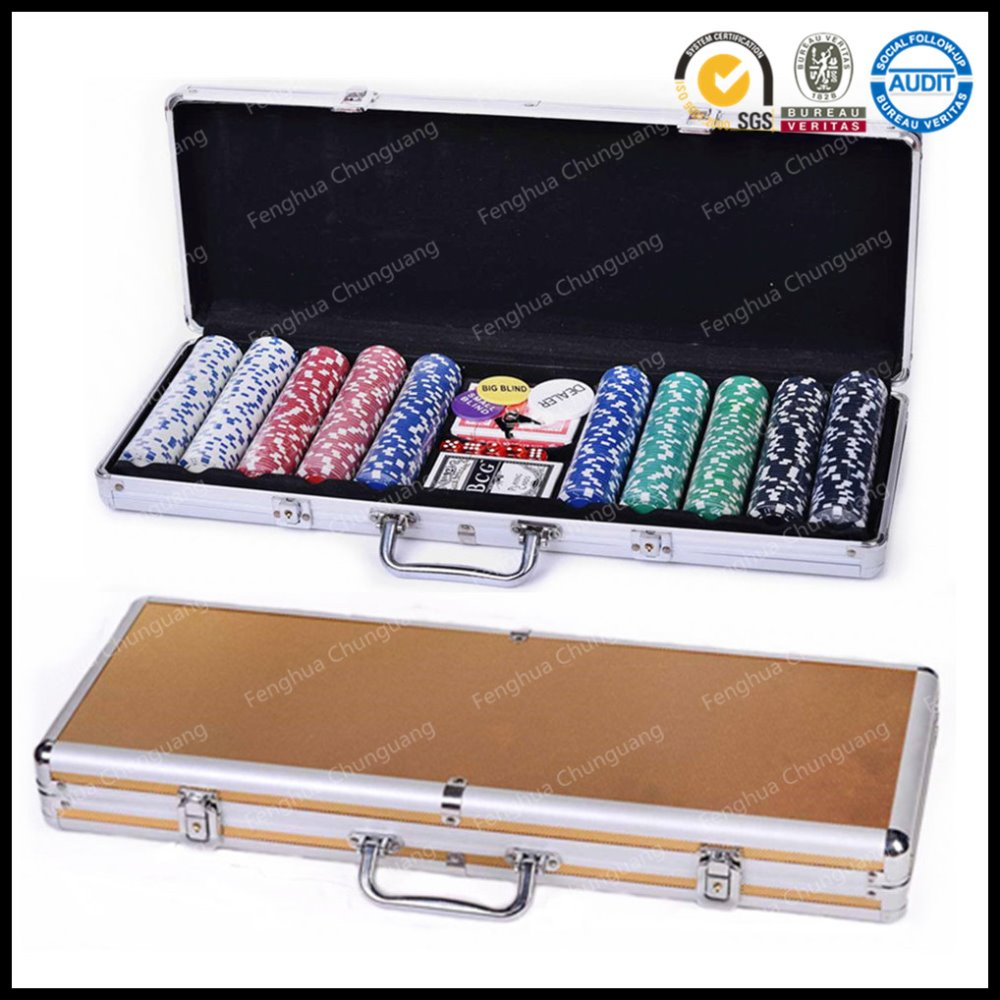 Case 500 Poker Chips Set in Aluminium Case