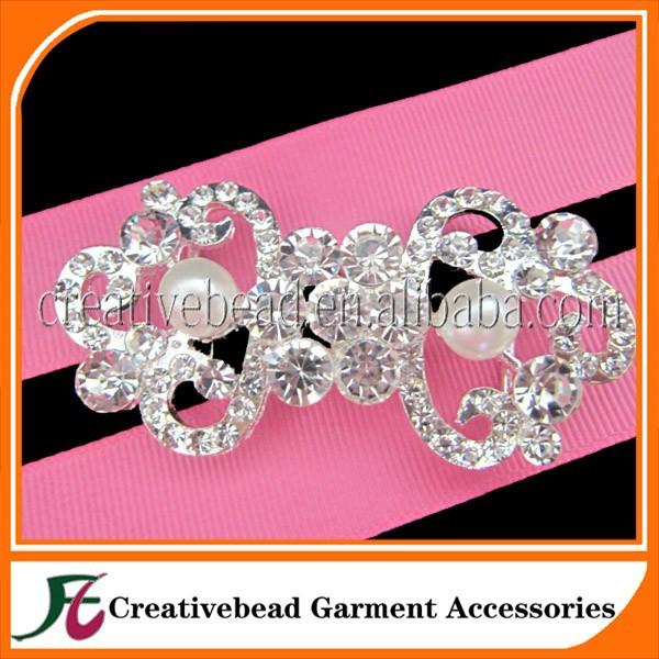 New arrival ! rhinestone pair buckles for wedding invitations