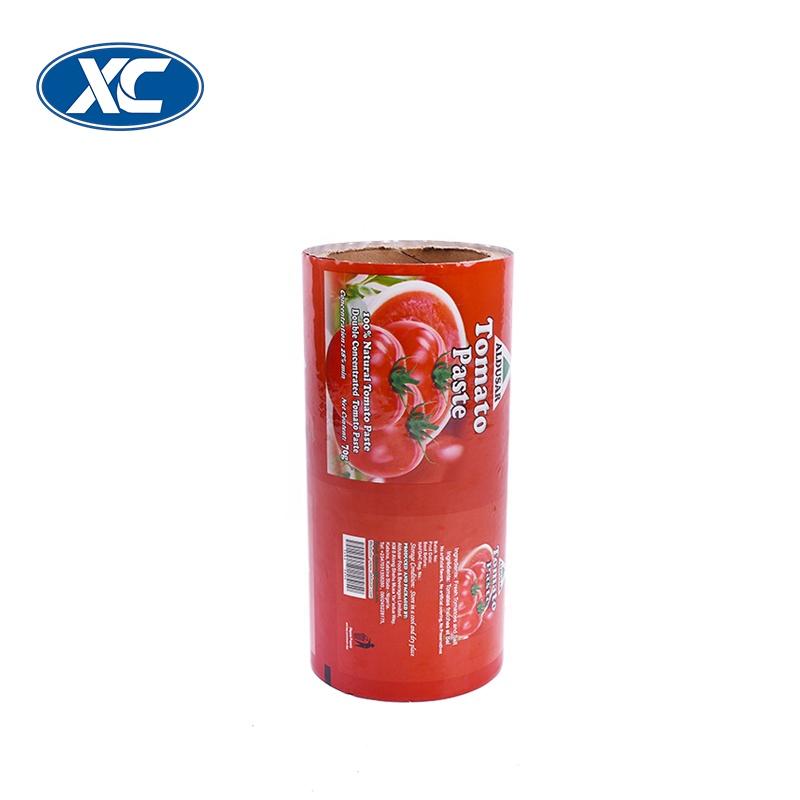 OEM impressão de laminação rolo de filme de embalagem de ketchup molho de alimentos grau de plástico