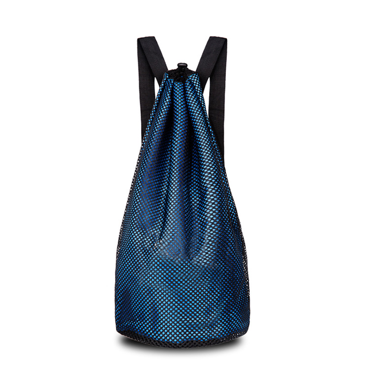 Mesh Net Sport Foot Ball Drawstring Backpack