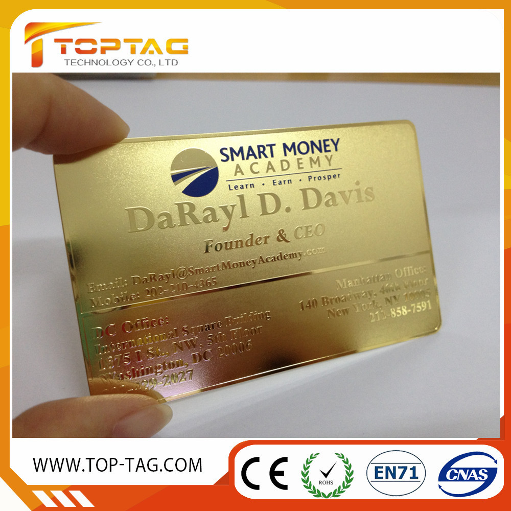 Qr Code Stainless Steel Business Cards/metal Cards (china ...