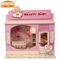 Doll house furniture miniatura diy doll houses miniature dollhouse wooden handmade toys for children grownups birthday