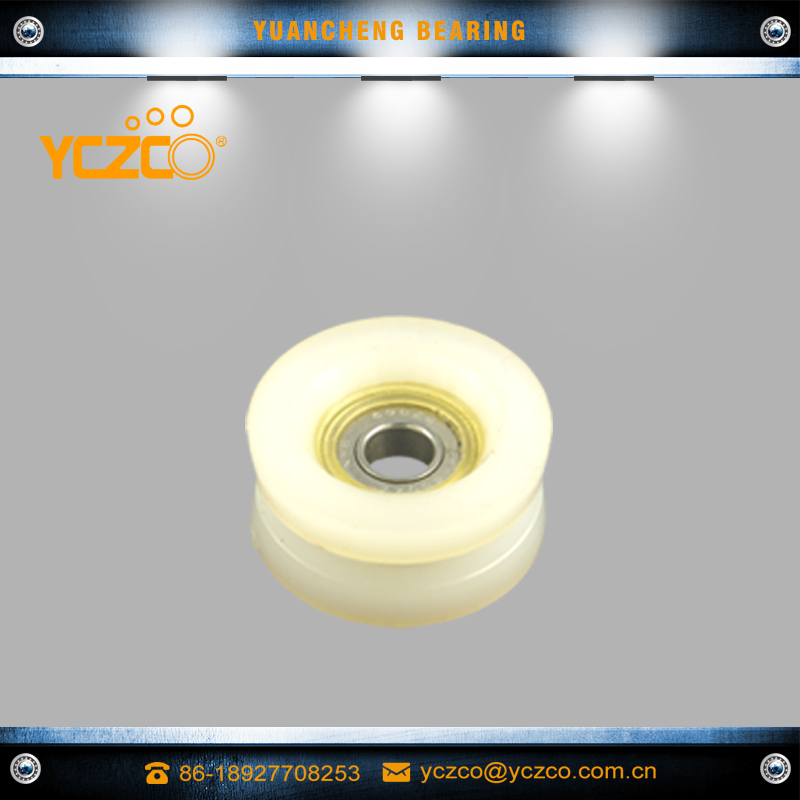 YCZCO-696RD51 sliding heavy duty gate roller wheel pulley nylon groove pulley