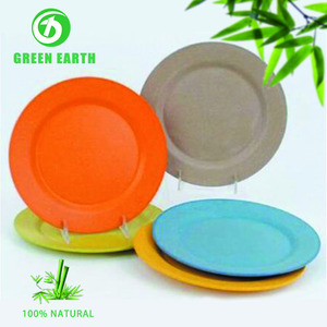 Renewable natural dumpling party plate organic kitchenware dishes in bamboo powder