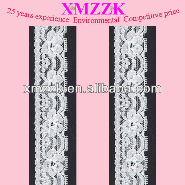 90% nylon and 10% spandex lace fabric L59