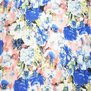 High speed produce apparel disorderly big floral fabric chiffon flower