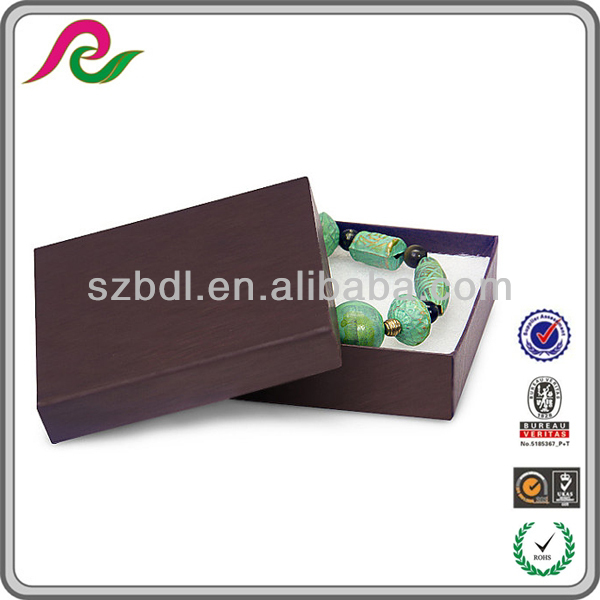New Style Customized Chocolate Brown Jewelry Presentation Gift Boxes