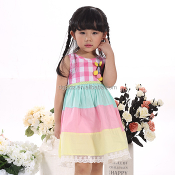 Color Mixed Cute Baby Girl Frock Design Latest Girl Dress Of 2016 ...
