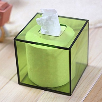 Facial Acrylic Tissue Boxes Ring Lucite Napkin Holder