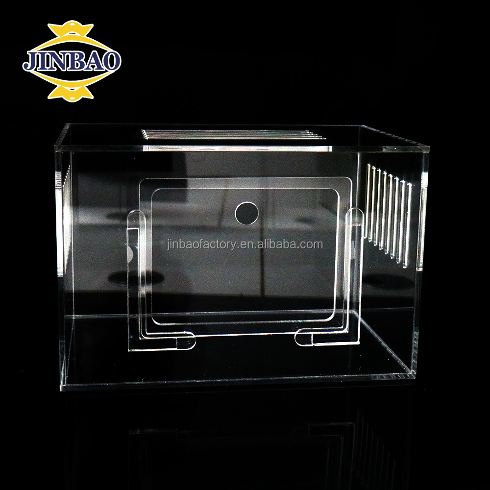 JINBAO Acrylic Hamster Pet Cage for Small Animals