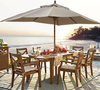 commercial use outdoors restaurant garden wooden umbrella / patio umbrella