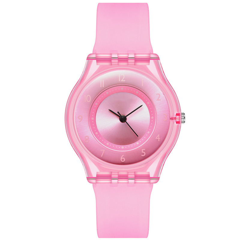 Simple Korean Fashion Sports Student Waterproof Belt Quartz Watch Cute Sports Silicone Watch For Kid