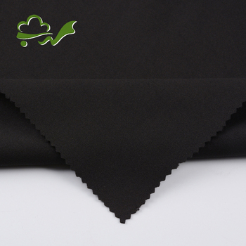 Good price black double knit polyester spandex fabric stock lot