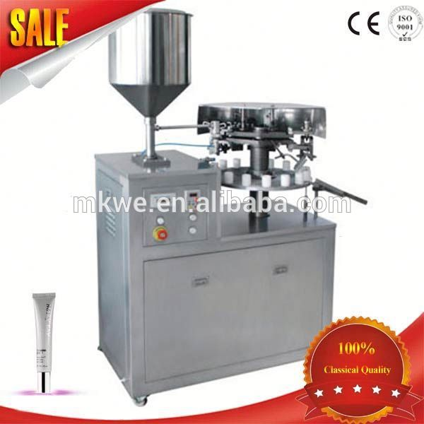 manual cosmetic cream tube package equipment