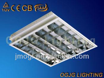 Ceiling Tube Light: CE 600x600 48W T8 LED grille light fitting ceiling office tube light led  panel lighting,Lighting