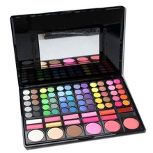 78 Warna Eyeshadow Palet dengan Perona Pipi <span class=keywords><strong>Kontur</strong></span> Bubuk Lipgloss Fashion Eye Shadow Palet Makeup Set Make Up Kit