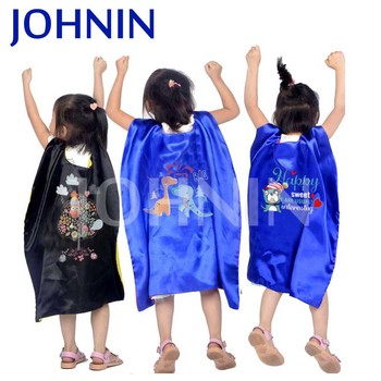 Hot Selling 70x70cm Satin Superhero Promotional Cape And Mask Kids