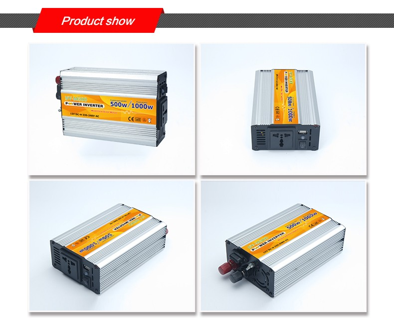 Intelligent 12v to 220v DC to AC Inverter 500W modified sine wave solar power inverter with CE