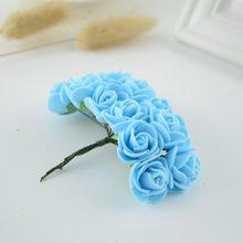 144 шт Искусственные цветы для дома свадебный автомобиль Декор помпон для гирлянды «сделай сам» свадебный цветок поддельные цветы мини пена ...(Китай)