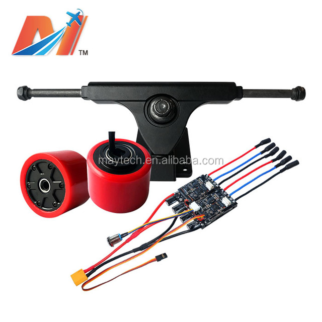 Maytech 70mm electric moto 100kv hub motor and skateboard trucks and 30A 10S daul esc for outboard motor control kit