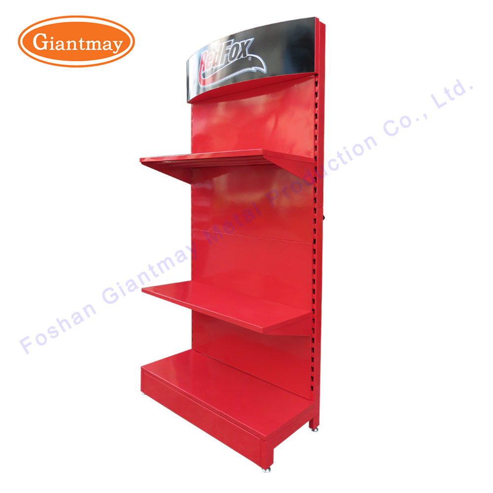 Factory directly sale retail store single sided pegboard metal power tool holder floor display stand for hand tools