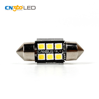 Error free CANBUS 31MM 12V 6000K white festoon 6418 c5w led for dome map lights