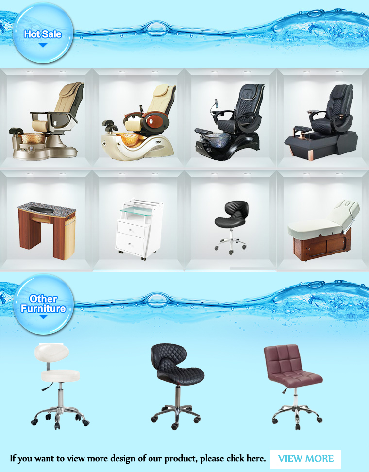 nail salon furniture with nails customer chair for rose pink pedicure chairs