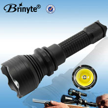 Brinyte led rechargeable red green flashlight with remote pressure switch