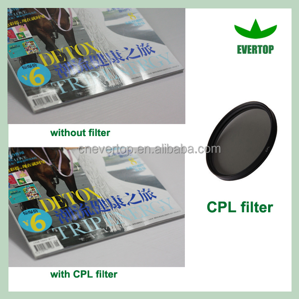 TS-CPL Wholesale camera CPL filter,camera lens CPL filter,multi-coating Polarize filter