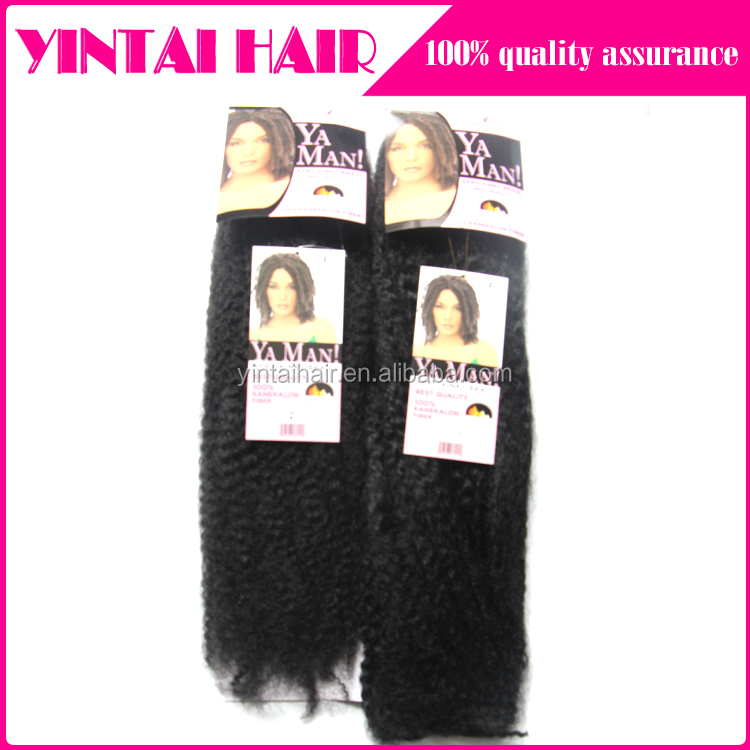 2016 New Products African Hair Braiding Synthetic Afro Kinky Hair Weave Synthetic Marley Hair Braid