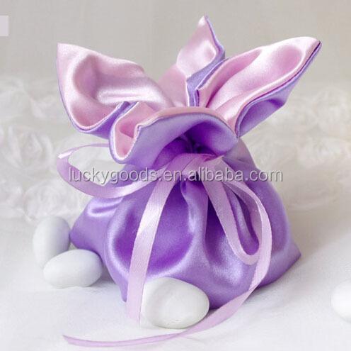 Custom Personalized Light Purple Wedding Cake Bags Whole
