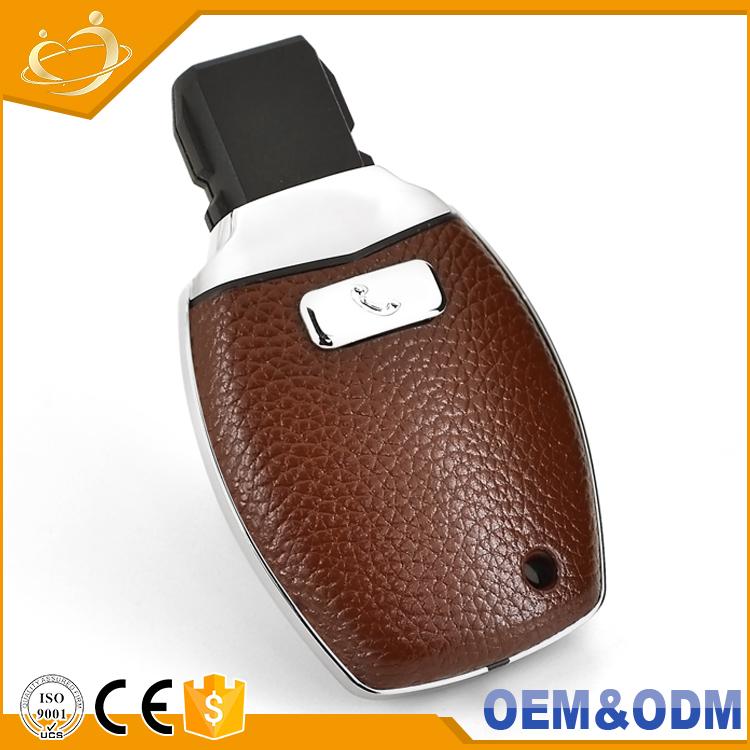 Custom Gift Saibon Leather Plastic Car Key Remote Replacement Filp Key  Shell For Mercedes Benz W203 W210 W211 W124 - Buy Leather Key Case