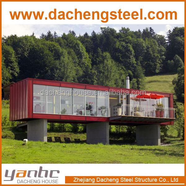 Lusso prefabbricata casa container casa per vivere la casa case prefabbricate id prodotto - Casa container prezzo ...