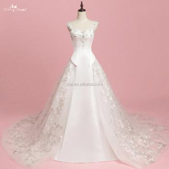 Rsw1319 Modern Removable Tulle Overskirt Mermaid Wedding Dresses ...
