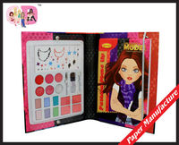 DIY fashion make up kit coloring drawing book for gift