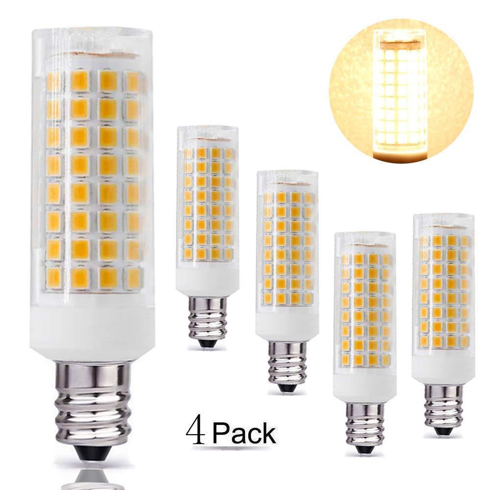 E12 LED 90PCS 8W E12 Led Blub 75W Equvilent,850LM 2-Pack /… (Daylight White) AC110-130V 360 Degree Beam Angle T3//T4 Candelabra Base Corn Bulb All-New Dimmable Candelabra Base E12 Bulbs