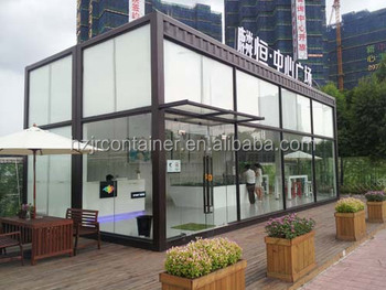 Glass Curtain Wall 20ft Shipping Container Office
