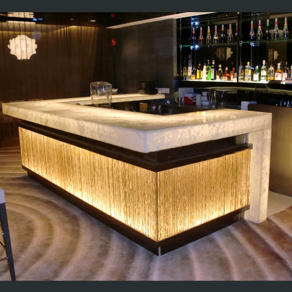 Home Bar Counter: Hot Sale Modern Design Solid Surface/acrylic Led Effect