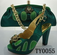 ladies evening green shoes and handbag fashion italian matching shoes and bags