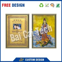 Good quality engraved gold foil card, gold foil india god pictures, gold foil sticker